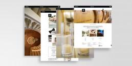 interfaccia grafica sito web Mario Neri Catering realizzata da AD99
