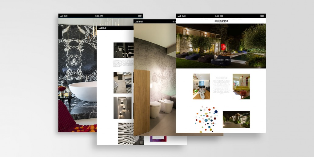 Beautiful web design per il sito internet di casamorandi for Siti per arredamento