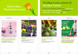 layout grafico per Viridea Garden Center