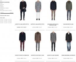 user interface del web site per lo shop online di Manuel Ritz