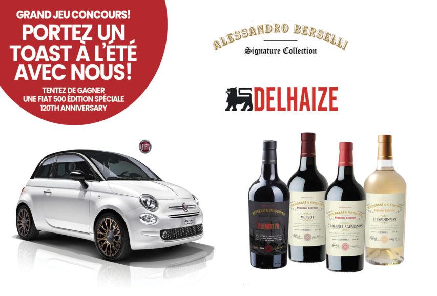Il vino italiano di Alessandro Berselli rafforza la sua presenza in Belgio, con un concorso a premi.